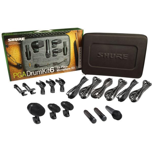 Mikrofonsett Shure PGADRUMKIT6 Til Trommer