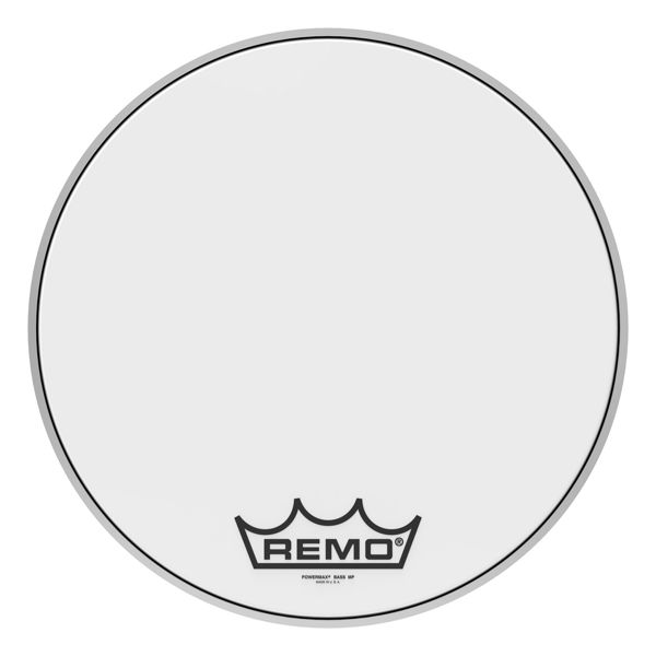 Stortrommeskinn Remo Powermax PM-1018-MP, Ultra White 18