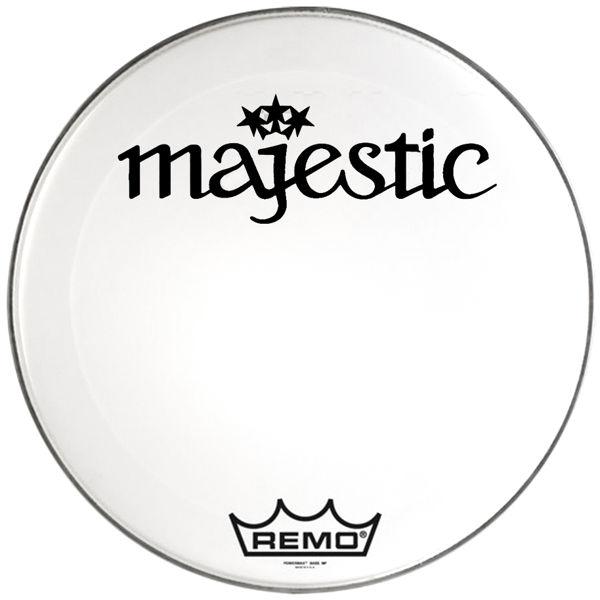Stortrommeskinn Majestic (Remo) Power Max PM22, 22, Smooth White