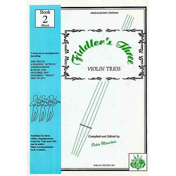 Fiddler's Three Violin Trios Book 2 (Easy)