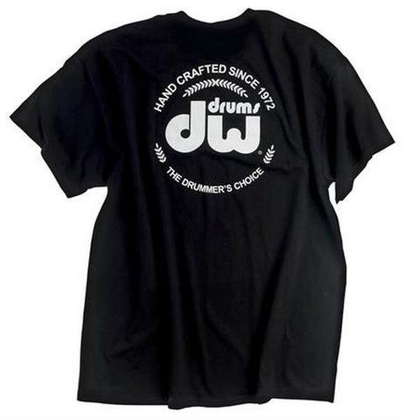 T-Shirt DW Badge, Short Sleeve, Black, Large