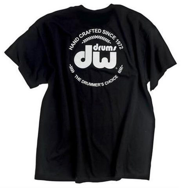 T-Shirt DW Badge, Short Sleeve, Black, Medium