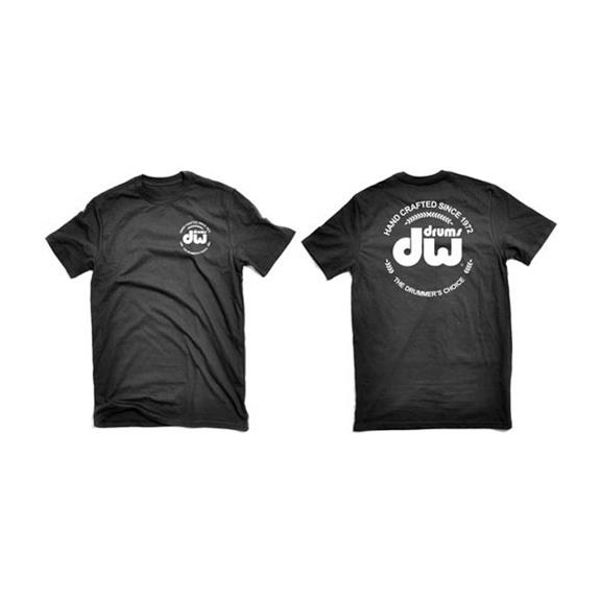T-Shirt DW Logo, PR25SSBL-L, Short Sleeve, Black, Large