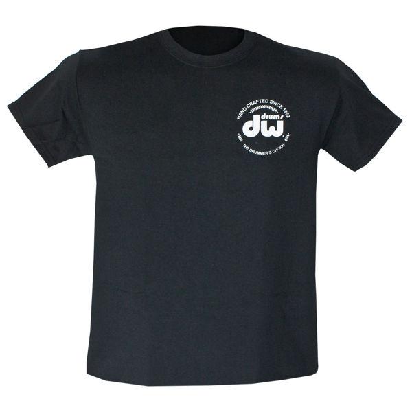 T-Shirt DW Logo, PR25SSBL-M, Short Sleeve, Black, Medium