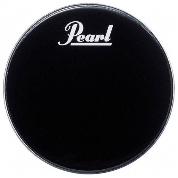 Stortrommeskinn Pearl PTH-20PL, Black w/Perimeter EQ, m/Pearl Logo 20