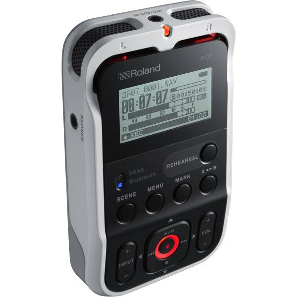 Handy Recorder Roland R-07, Hi Resolution Portabel Audio Recorder, White