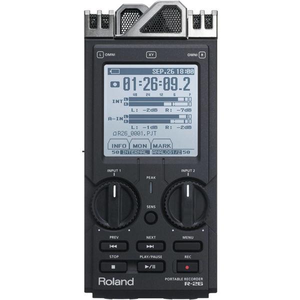 Handy Recorder Roland R-26, Portabel Stereo Recorder, Black