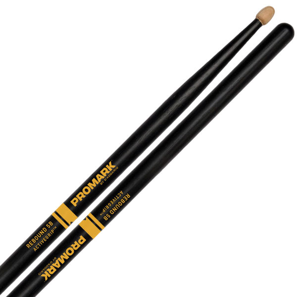 Trommestikker Pro-Mark Rebound Balance Active Grip R5BAG, 5B, Acorn Hickory Wood Tip