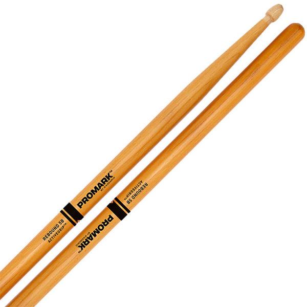 Trommestikker Pro-Mark Rebound Balance R5BAGC, 5B, Hickory Active Grip, Clear Acorn Wood Tip
