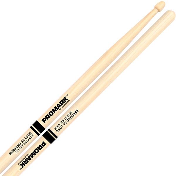 Trommestikker Pro-Mark Rebound Balance Hickory RBH565LAW, 5A, Long Acorn Hickory Wood Tip