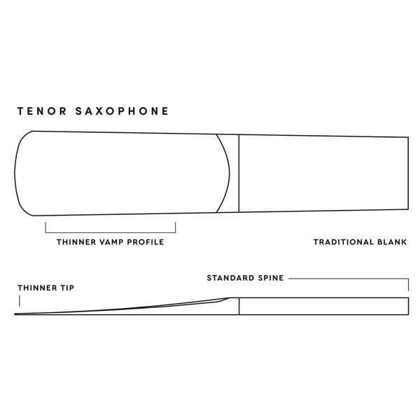 Tenorsaksofonrør Rico Royal D'Addario 2