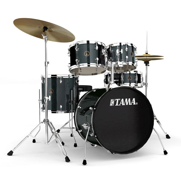 Slagverk Tama Rhythm Mate RM50YH5C-CCM, 20 m/Stativer og Cymbaler, Charcoal Mist