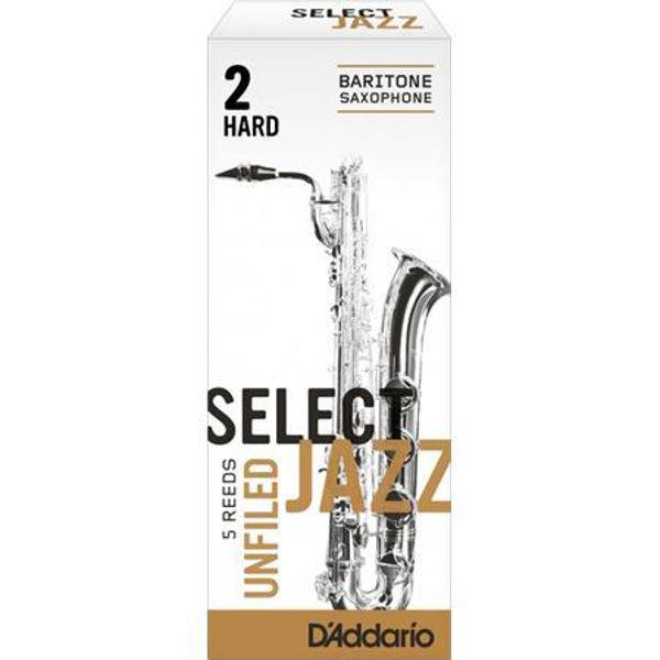 Barytonsaksofonrør Rico D'Addario Select Jazz Un-filed 2 Hard