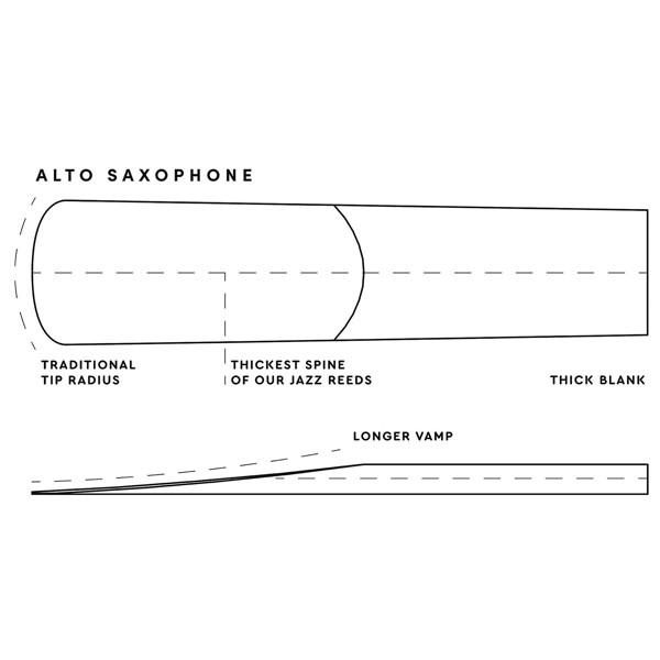 Altsaksofonrør Rico D'Addario Select Jazz Un-Filed 3 Hard