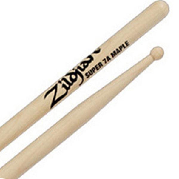 Trommestikker Zildjian Natural S7AM Super 7A, Maple, Wood Tip