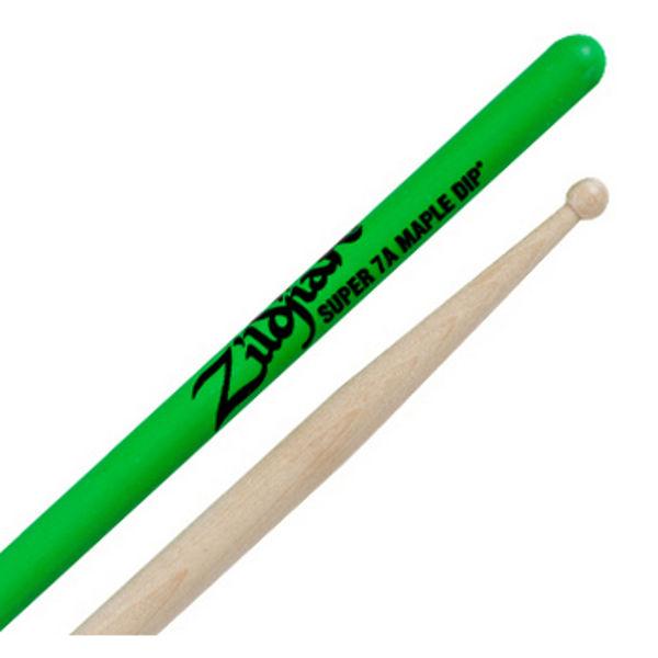 Trommestikker Zildjian Green Dip S7AMG, Maple, Wood Tip