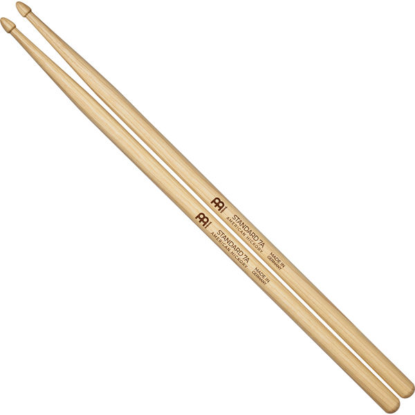 Trommestikker Meinl Standard 7A, SB100 Hickory, Wood Tip