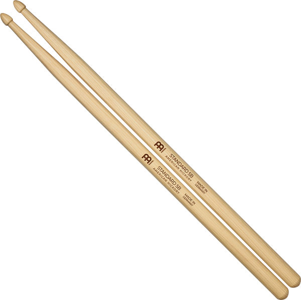 Trommestikker Meinl Standard 5B, SB102 Hickory, Wood Tip