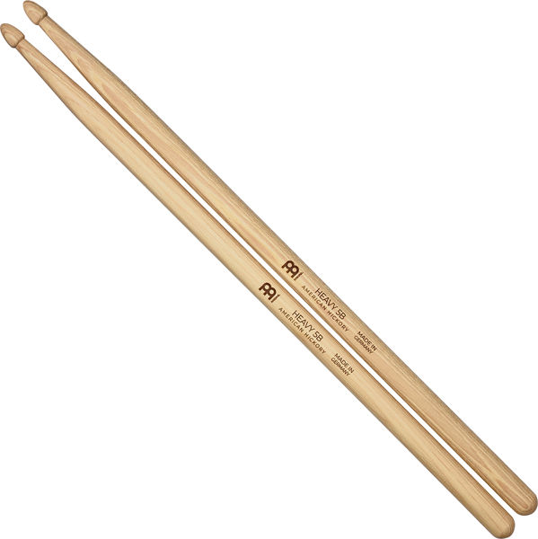 Trommestikker Meinl Heavy 5B, SB109 Hickory, Wood Tip