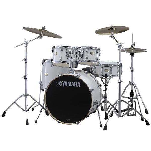 Slagverk Yamaha Stage Custom Birch SBP0F5PWH7, 20, m/Stativer, Pure White