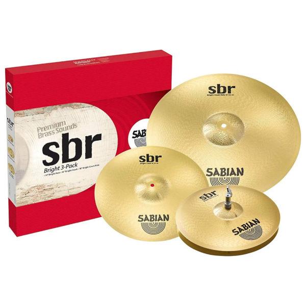 Cymbalpakke Sabian SBR 5004BR2, 14-16-18, Bright Performance Set