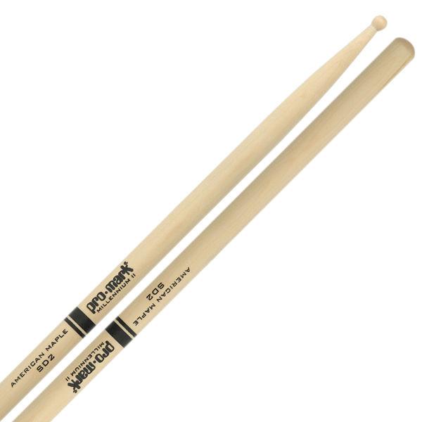 Trommestikker Pro-Mark American Maple Lakk SD2, SD2W, Wood Tip