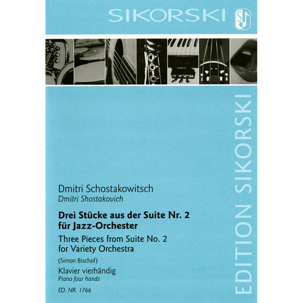 3 Pieces from Suite No. 2 for Variety Orchestra for piano four-hands, Shostakovich