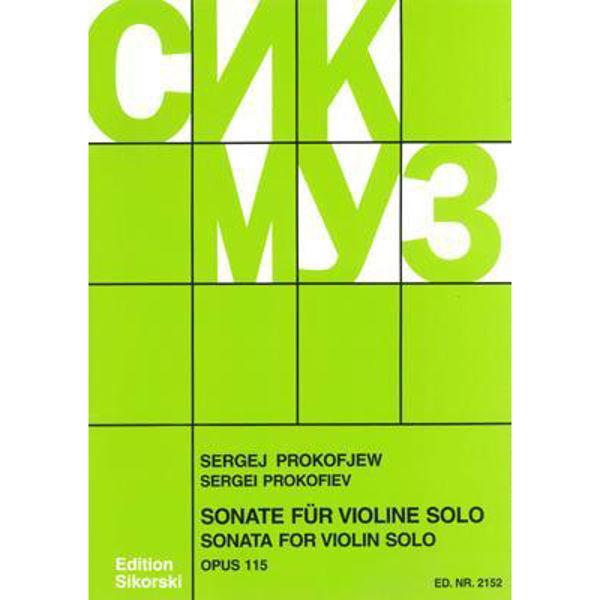 Sonata for Violin Op. 115, Sergei Prokofiev