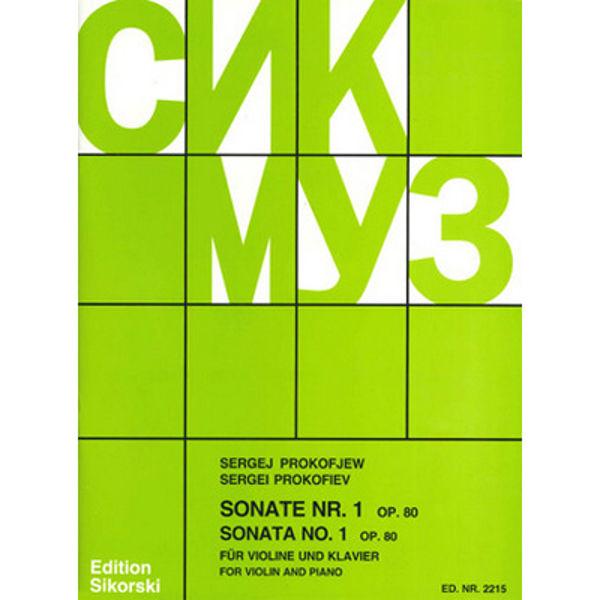Prokoviev - Sonata No. 1 for Violin and Piano Op 80
