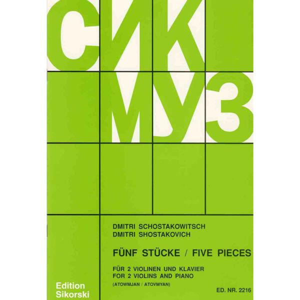 Schostakowitsch Five Pieces/Fünf Stücke  2  Violins and Piano (Shostakovich)