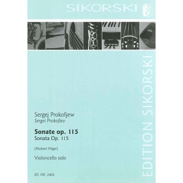 Sonata for Violoncello solo Op. 115, Sergei Prokofiev