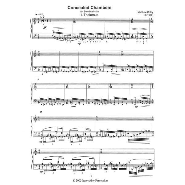 Concealed Chambers, Matthew Coley, Solo Marimba