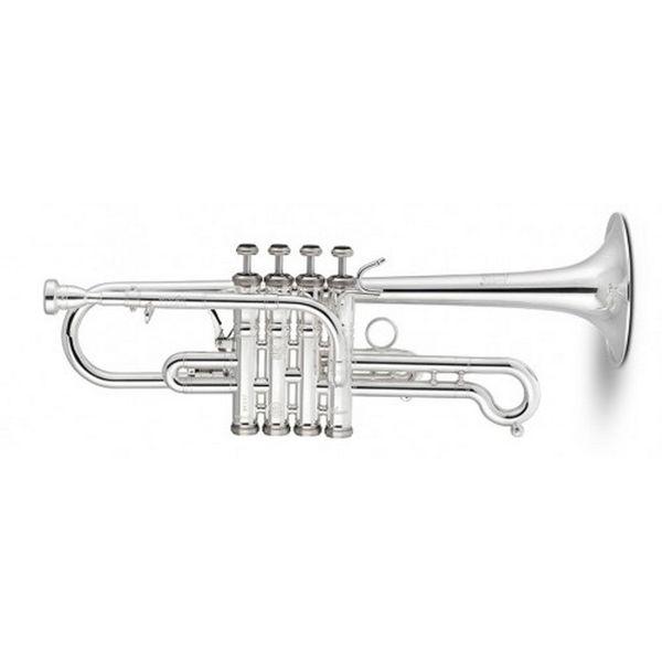 Trompet Stomvi D/Eb 4 ventiler Titan Bellflex Silverplated