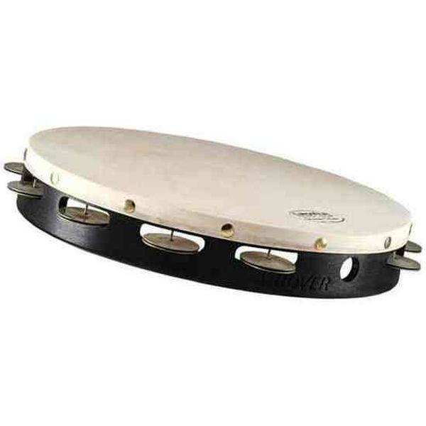 Tamburin Grover T1/GS-12, German Silver Jingles m/Bag 12, Calf Head