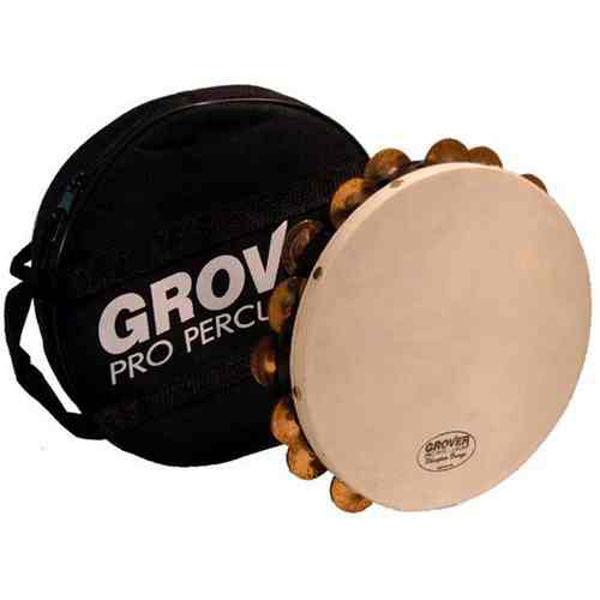Tamburin Grover T2/PhBr, Phosphor Bronze Jingles m/Bag 10, Calf Head