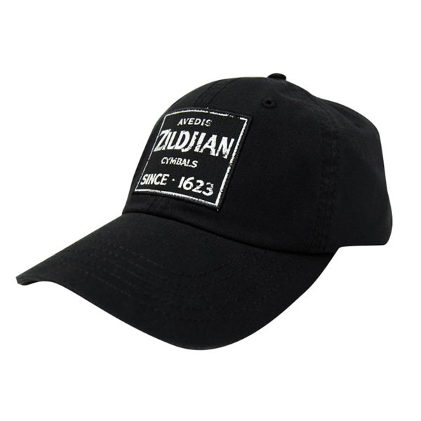 Cap Zildjian T4631, Black Baseball Cap with Quincy Vintage Sign