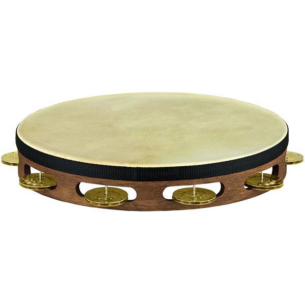 Tamburin Meinl TAH1V-WB, Wood, Vintage, Enkel, Brass Jingles, Walnut Brown