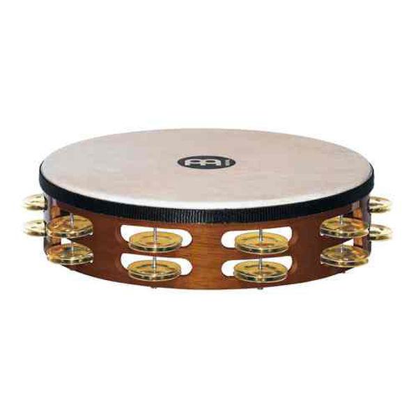 Tamburin Meinl TAH2B-AB, Dobbel m/Skinn, 10 Brass Jingle, African Brown
