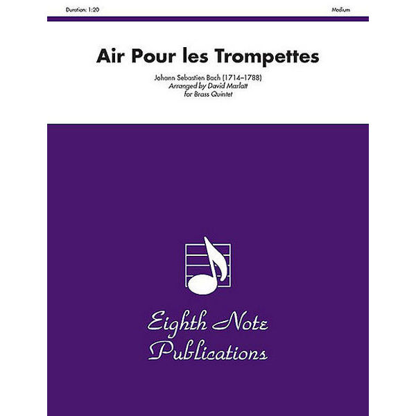 Air Pour Les Trompettes (832), J.S. Bach - 2 Trompeter/Orgel