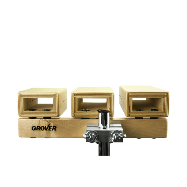 Temple Blocks Grover TPB-XT, 5-Piece Set w/Mounting Clamp & Stand