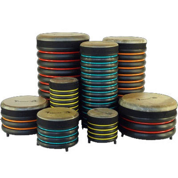 Pedagogtrommer Trommus E3, A1u-B1-C1-D1-A2u-B3-C3-D3, Set of 8 Drums w/Natural Skin