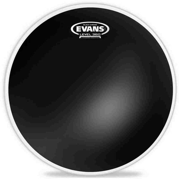 Trommeskinn Evans Black Chrome, TT12CHR, 12