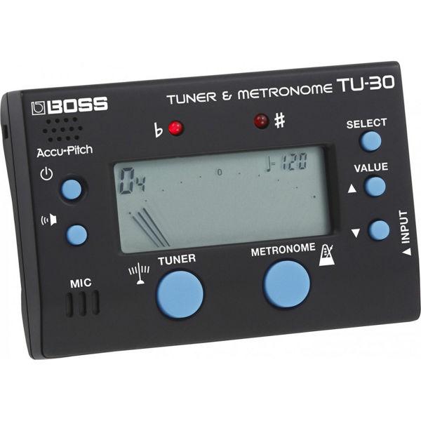 Metronom/Stemmeapparat Roland Boss TU-30, Tuner m/Metronom, Sort