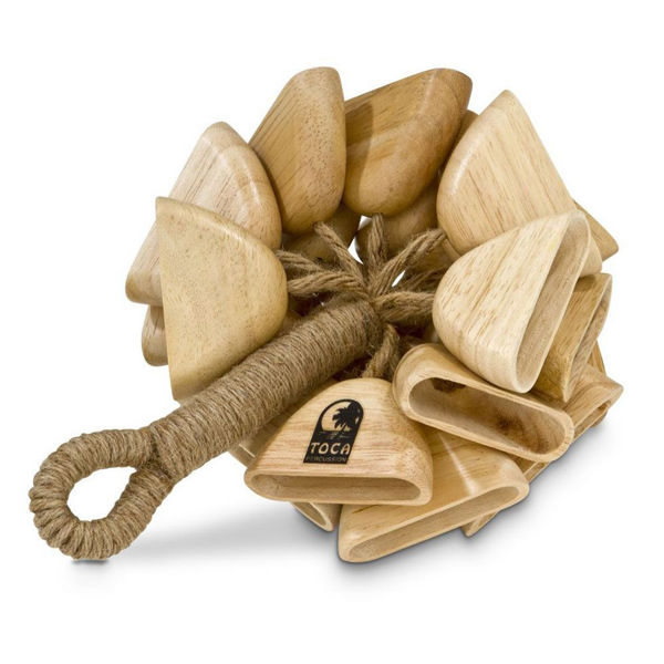 Wood Rattle Toca T-WRH On Handle