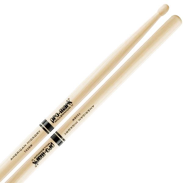 Trommestikker Pro-Mark American Hickory Lakk 2B, TX2BW, Wood Tip