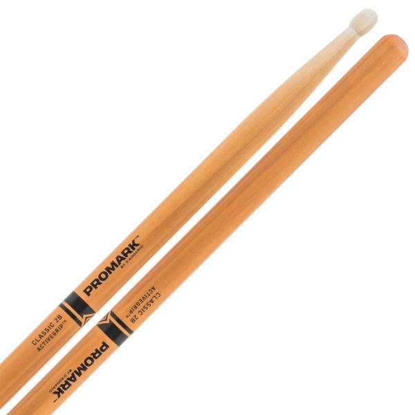 Trommestikker Pro-Mark ActiveGrip 2B Hickory, TX2BW-AGC, Clear, Wood Tip