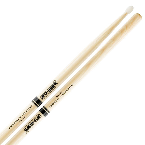 Trommestikker Pro-Mark American Hickory Lakk 5A, TX5AN, Nylon Tip