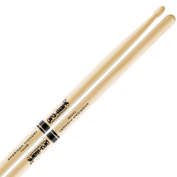 Trommestikker Pro-Mark American Hickory Lakk 5A, TX5AW, Wood Tip