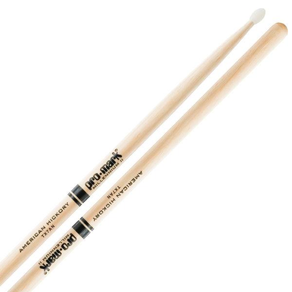Trommestikker Pro-Mark American Hickory Lakk 7A, TX7AN, Nylon Tip