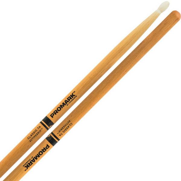 Trommestikker Pro-Mark ActiveGrip 7A Hickory, TX7AW-AGC, Clear, Wood Tip